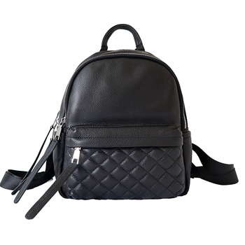 Cow Genuine Leather Women Backpack New Fashion Luxury Brand Female Real Natural Leather Lady Plaid Girl Student Casual Backpack