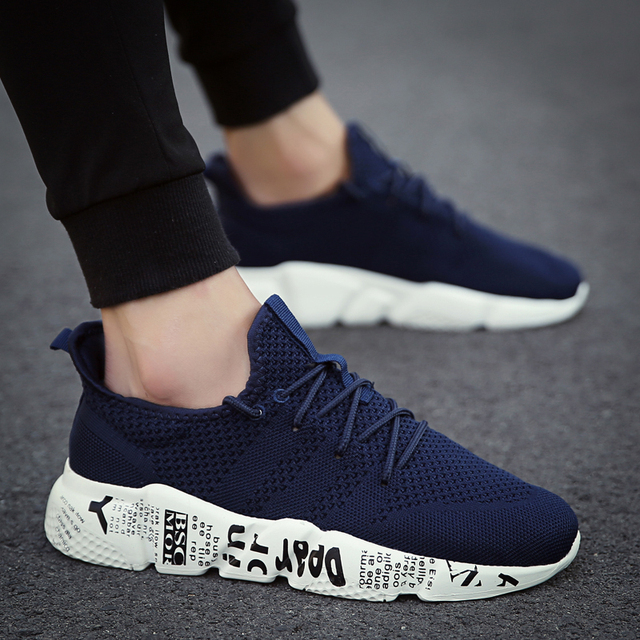 Casual Shoes Men Sneakers Comfortable Fashion Mesh Outdoor Walking Jogging Shoes New Lace-up Flat Male Footwear Zapatos Hombre 4