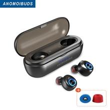 Anomoibuds 캡슐 프로 화이트 IP010 X 50 시간 플레이 타임 tws 이어 버드 블루투스 헤드폰 딥베이스 hi fi 이어폰 게임용 헤드셋