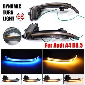 Image 5 - עבור אאודי A3 8P A4 A5 B8 Q3 A6 C6 4F S6 SQ3 A8 D3 8K דינמי מחוון LED זורם מהבהב איתות מראה נצנץ אורות