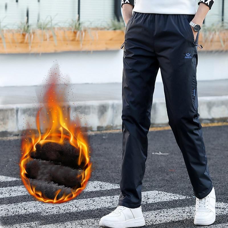 Fleece Sweatpant Thicken Winter Quick Dry Exercise Pants Men Elastic Waist Men Active Pants Outside Trousers Sportwear 8XL,ZA314