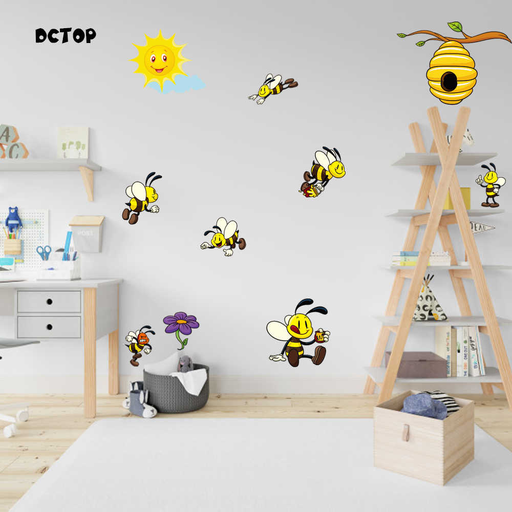 Honey Bees Wall Stickers Art Decal