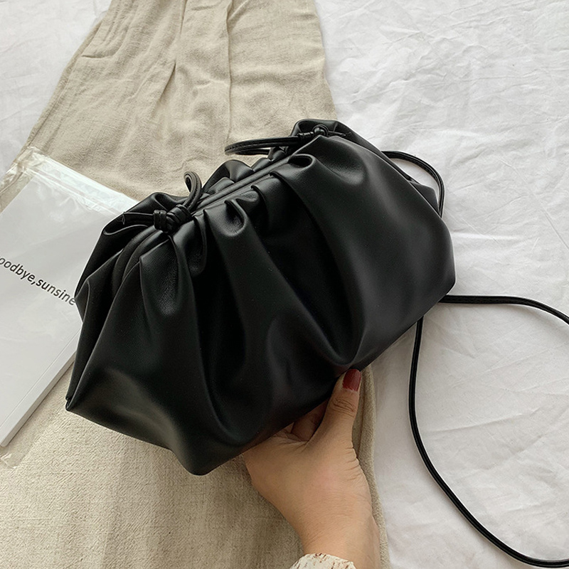 Soft PU Leather Women's Bag Single Shoulder Bags Fashion Magnetic Buckle Dumpling Bag Female Handbag Day Clutches Bags 2019 New