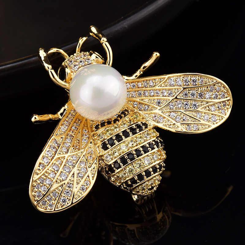 หรูหราคริสตัลดอกไม้สัตว์ Bee เกล็ดหิมะเข็มกลัดเข็มกลัดผู้หญิงเครื่องประดับ Broach Bouquet PIN Broche Femme คริสต์มาสของขวัญ