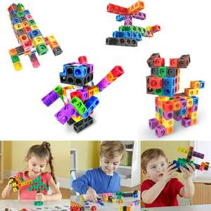 Link-Cube-Set Block Insert Educational-Toys Puzzle Early-Math Creative Children's