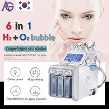 Горячие обновления! Hydrafacial 6в1 маленькие Пузырьковые инструменты для ухода за кожей био ультразвуковая RF Hydra Глубокая чистка пор для лица машинка для массажа лица