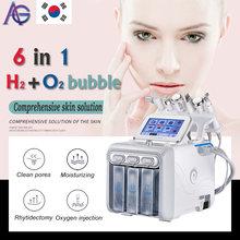 Hot Upgrade! Hydrafacial 6in1 Small Bubble Skin Care Tools BIO Ultrasonic RF Hydra Deep Facial Pore Clean Facial Massage Machine