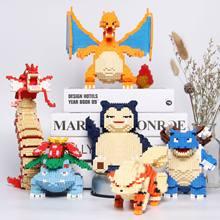 Покемон, строительный блок, Пикачу, храп, Charizard Bulbasaur, фигурка, модель blastise Gyarados, сделай сам, собранные мини-кирпичи, детский подарок