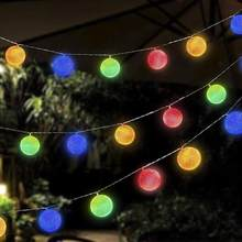 LED String Lights Ball Lights 1.5 Meters 10 LED Waterproof Crystal Ball Lights Home Decor Festival Party DIY Ornament #1016(China)