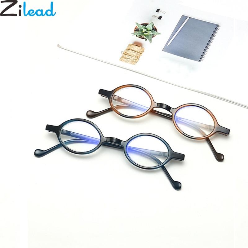 Zilead Anti Blue Light Small Frame Reading Glasses Ultralight Round Prebyopia Spectacles Goggles Eyeglasses Hyperopia Eyewear