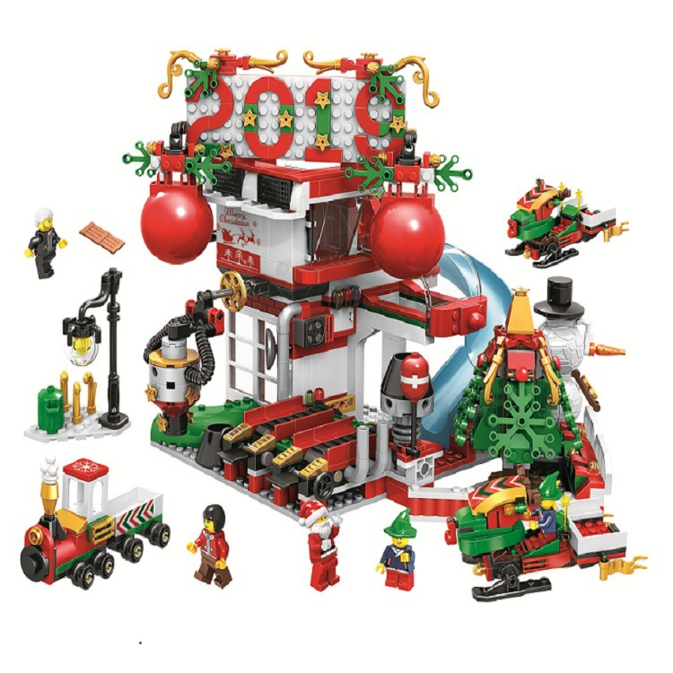 907pcs New Winter Holiday 2019 Gift House 11085 DIY Model Building Kit Blocks Gifts Children Toys Bricks Compatible With LagoING image