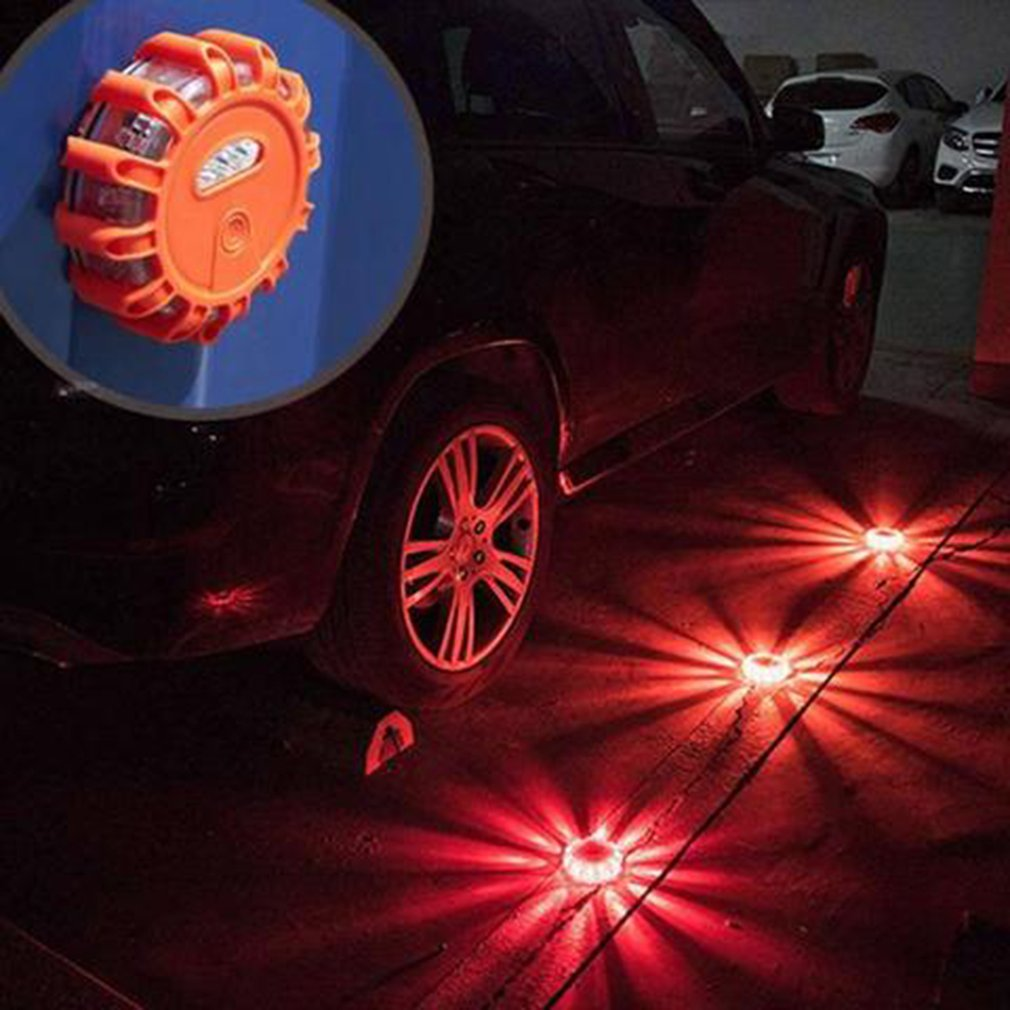 LED Emergency Magnet Flashing Warning Night Lights Safety Road Flare Emergency Lights With Magnetic Base For Car Truck Boat