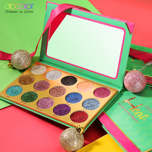 Image 2 - Docolor Glitter Eyeshadow Palette 15 Colors Heat Shimmer Makeup Palette Highly Pigmented Professional Eye Shadow Powder Cosmetic