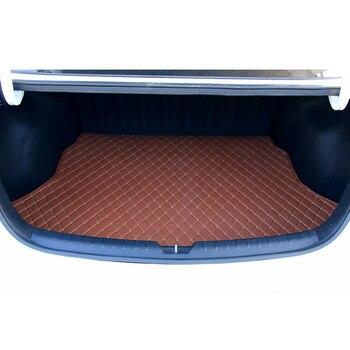 Lsrtw2017 Leather Car Sedan Trunk Floor Mat Cargo Liner for Kia K2 Rio 2017 2018 2019 2020 Rug Carpet Interior Accessories