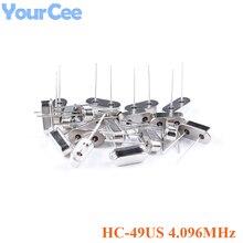 Oscillators Crystal HC-49US X49SD4096MSD2SC 20pcs Passive 20PPM