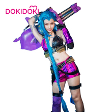 DokiDoki League of Legends Game Cosplay Jinx Costume  Women Sexy