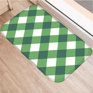 Image 2 - Геометрический узор решетки нескользящий декоративный ковер для спальни кухонный пол для гостиной коврик для ванной нескользящий коврик 40x60 см.