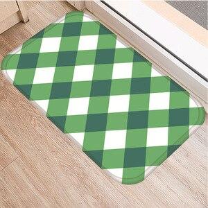 Image 2 - Celosía geométrica alfombra decorativa antideslizante para dormitorio, suelo de cocina, sala de estar, baño, 40x60cm