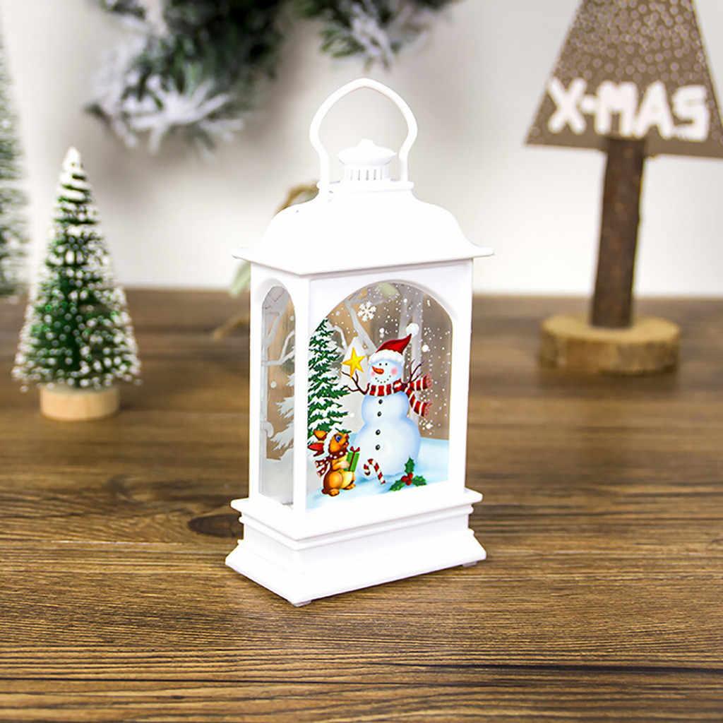 Kreative LED Licht Mini Holz Haus Weihnachten Baum Hängen Ornamente Urlaub Partei Hause Dekore Handwerk 2019