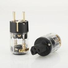 Pair P029E+C029 EU Power Plug IEC Female Power Connector hifi diy power cable Plug
