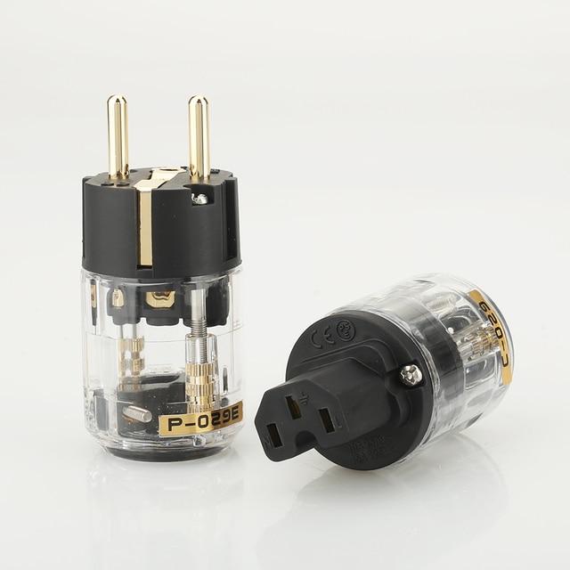 Paire P029E + C029 ue prise dalimentation IEC femelle connecteur dalimentation hifi bricolage prise de câble dalimentation