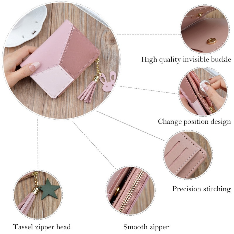 JODIMITTY Women Wallets Small Leather Purse Women Ladies Card Bag For Women 2020  Female Purse Money Clip Wallet
