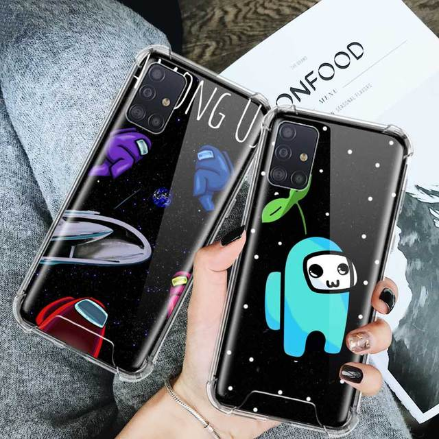 Hot Game Among Us Case For Samsung Galaxy A51 A71 M51 M31 M21 A41 A42 5G A31 A21s A11 Airbag Anti Mobile Phone Fall Cover Shell