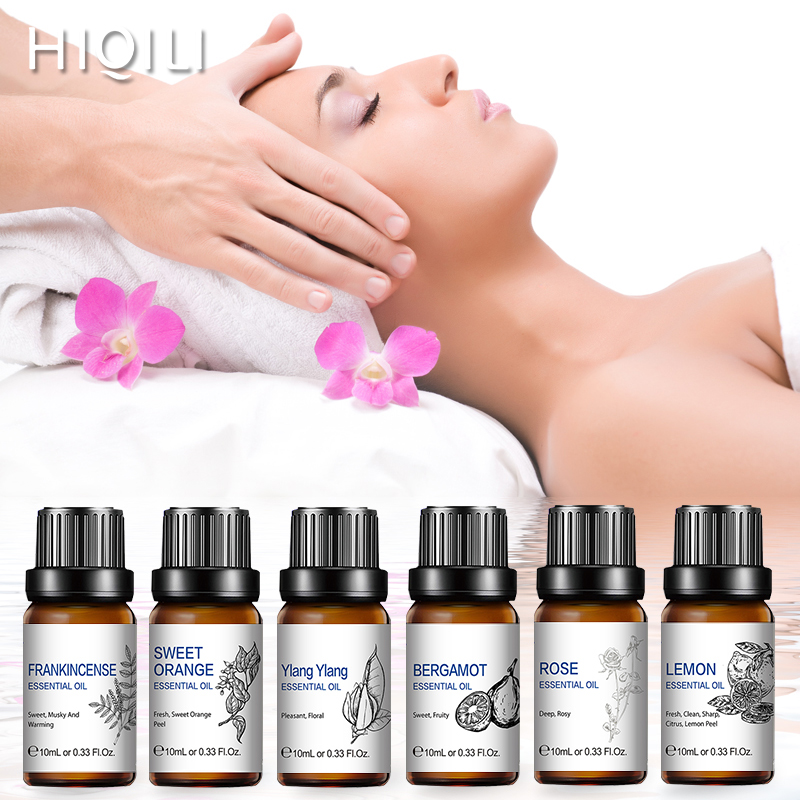 Massage Vanilla Essential Oil 10ML Diffuser Aroma Oil Sandalwood Peppermint Lavender Patchouli Rose Lemon Jasmine Ginger