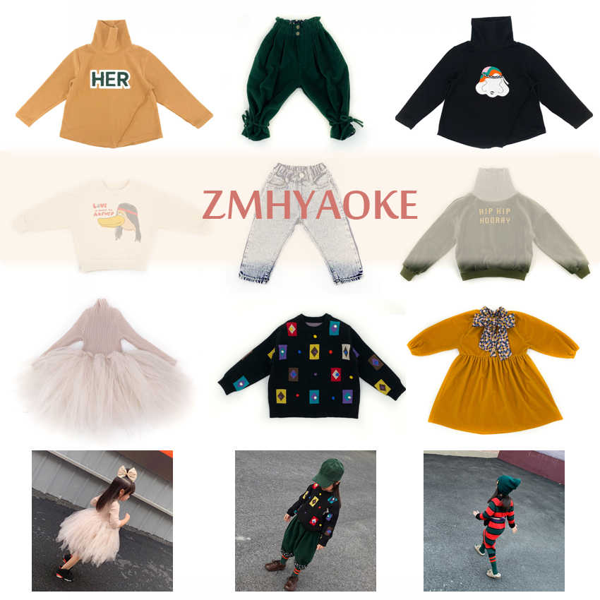 ZMHYAOKE 2019 New Girls Outfits Thanksgiving Toddler Girl Clothes Fashion My First Christmas Boy Clothes Girls Outfits Boys Tops