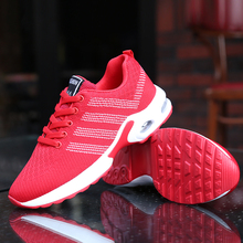 Damyuan 2019 New Autumn Flying Weaver Running Shoeswomen Red Increased Comfortable Non-skid Shoes for Outdoor Walkingng