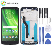 New For Motorola Moto G6 Play(Black) LCD Display Touch Screen Digitizer Assembly With Frame For Motorola Moto G6 Play(China)