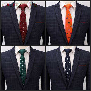 HUISHI Tie Slim New Style Fashion Men's Solid Green Blue Black Tie Knit Knitted Necktie Slim Dot Star Woven Cravate Narrow Neck