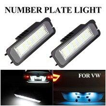 2 шт. светодиодный номер номерного знака светильник лампа для VW Golf MK4 MK5 MK6 Passat Polo CC Eos», «Жук», «Scirocco Porsche