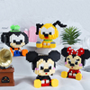 410 pz Cartoon Mirco Building Blocks seduto plutone pippo Minnie Mouse topolino modello 3D Disney mattoni figure giocattolo per bambini