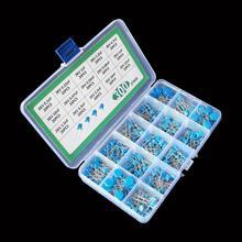 15 значений * 20 шт. комплект конденсаторов высоковольтные керамические конденсаторы в ассортименте, набор в коробке 1 нФ 2,2 НФ 10 нФ 22 НФ 0,47 НФ 0,...