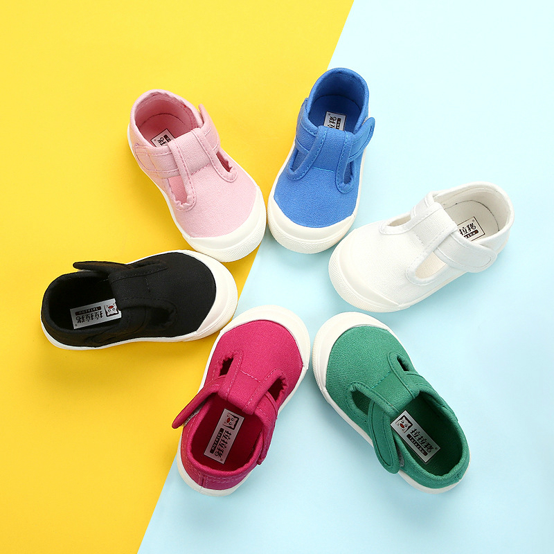 2020 New Spring Casual Shoe For Toddler Boys Girls Summer Canvas Shoes Girl's Shallow Mouth Shoes Children 1-6 Year Infant White