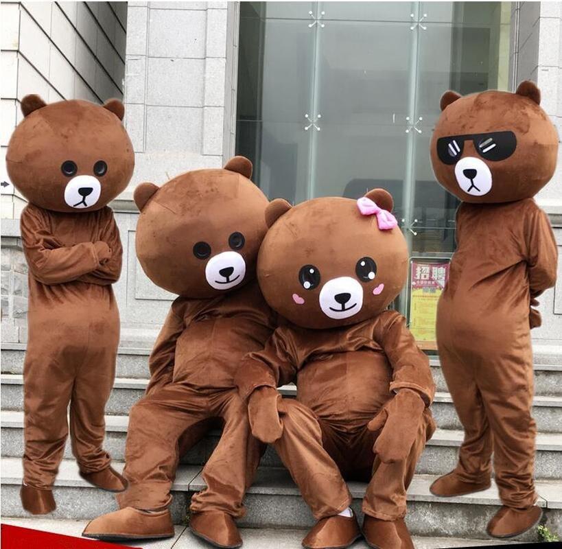 Halloween drôle ours brun mascotte Costume Costume adulte Cosplay partie jeu robe tenues vêtements publicité carnaval noël pâques