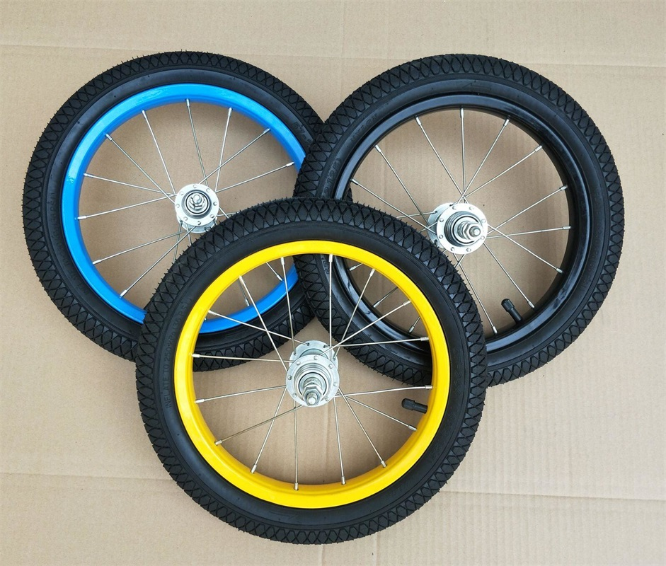 Аксессуары для велосипедных шин hildren, обода в сборе, 12 дюймов, стальное кольцо, переднее и заднее колесо, Комплект алюминиевых колец для коле...