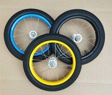 Hilcrianças, acessórios de pneu de bicicleta, montagem de aro, 12 polegadas, anel de aço, roda frontal e traseira, conjunto de roda de alumínio 12 pneu x 2.125