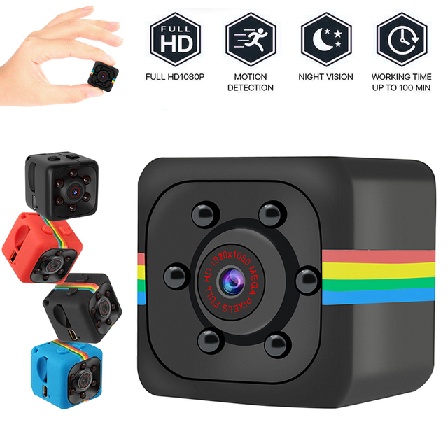 1pc SQ11 Mini Camcorders Webcam 960P Web Camera Night Vision Car DVR Camera Wide Angle Web Cam Camcorders Support Hidden TF Card