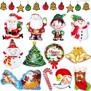 1 шт. Большая фотография, Рождественский медведь, пингвин, снежинка, алюминиевая пленка, воздушные шары для украшения рождественской вечеринки