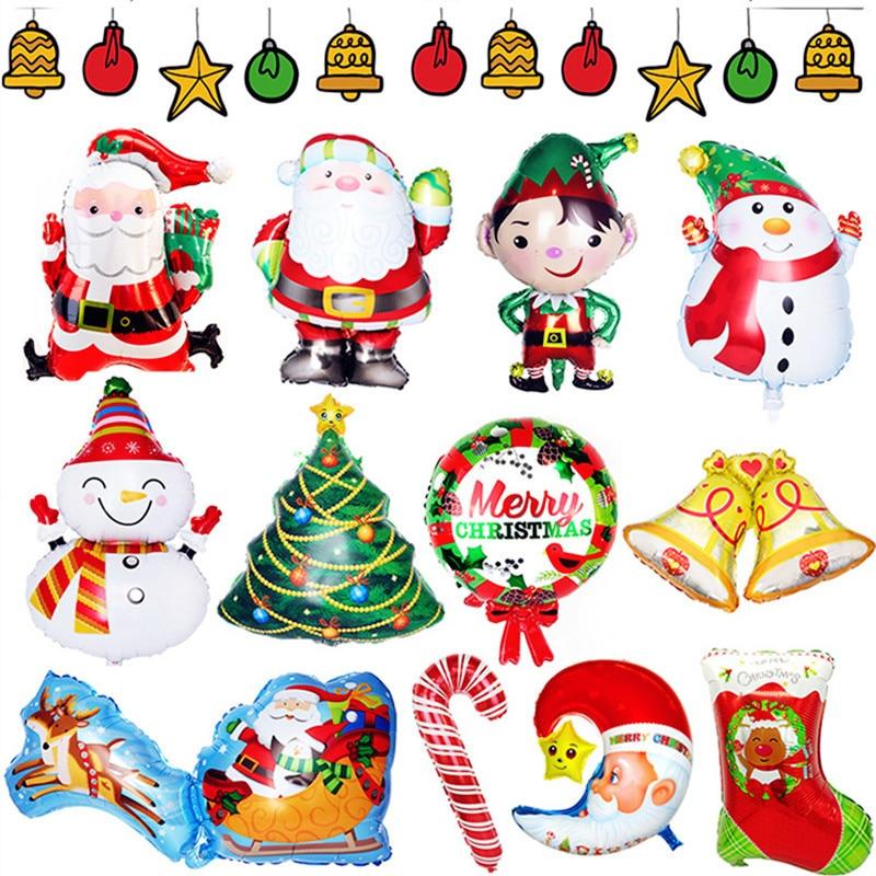 1 шт. Большая фотография, Рождественский медведь, пингвин, снежинка, алюминиевая пленка, воздушные шары для украшения рождественской вечери...
