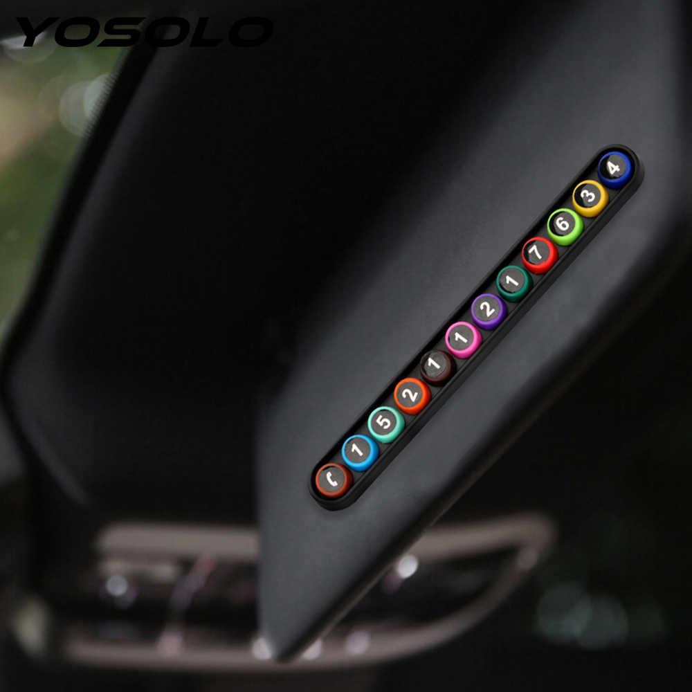 Yosolo Mobil Kartu Parkir Sementara Mobil Stiker Ponsel Nomor Telepon Sementara Parkir Mobil Self-Perekat Ponsel Nomor Kartu