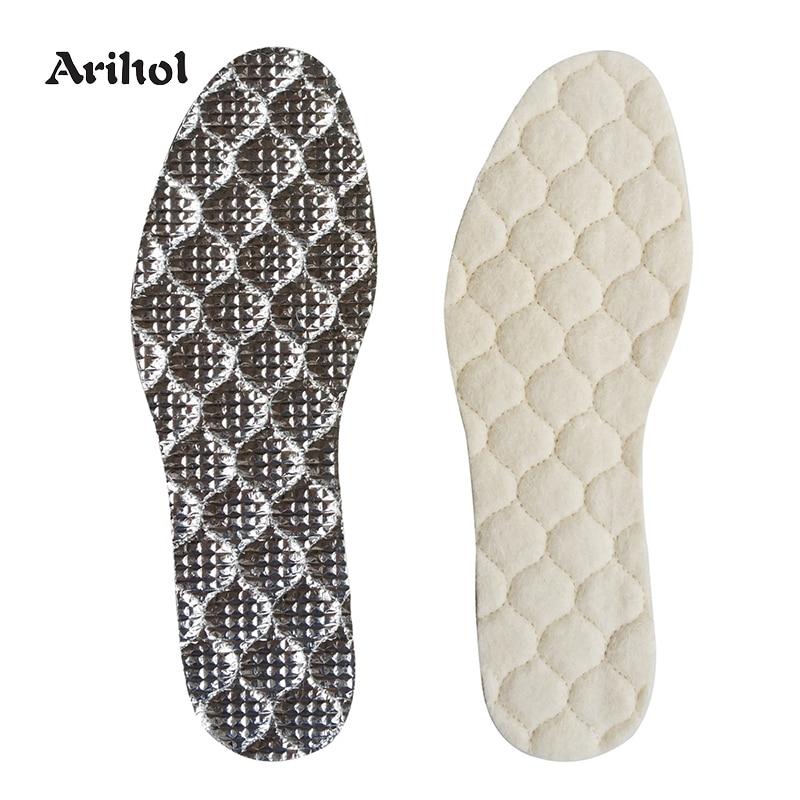 Adramata Australian Sheepskin Insole Extra Thick and Warm Wool Insole Women Men Replacement Insole