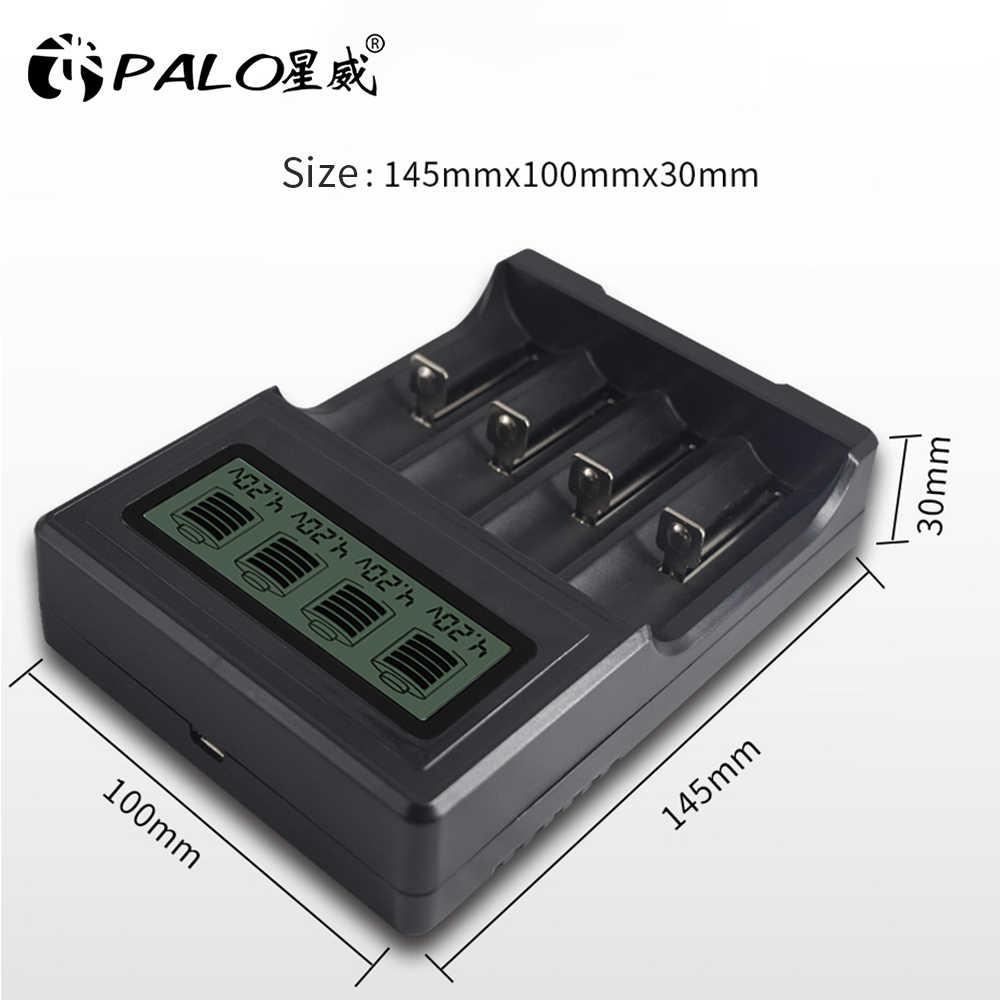 بالو 18650 26650 16340 14500 10440 18500 شاحن بطارية USB شحن ل 18650 ليثيوم الأسد 3.7V شاحن بطارية