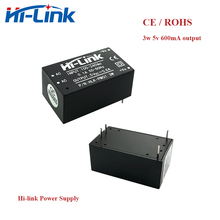 Free shipping 5pcs/lot new Hi Link ac dc 5v 3w mini power supply module 220v isolated switch mode intelligent module HLK PM01