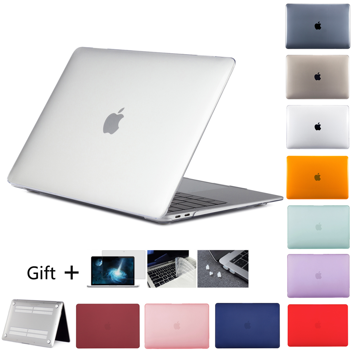 New CrystalMatte Case For Apple Macbook Air Pro Retina M1 Chip 11 12 13 15 16 inch ,Case For 2020 Pro13 A2338 A2289 A2179+gift 1