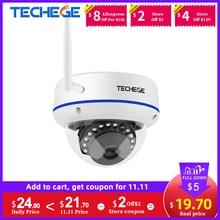 Techege 1080P Wifi Dome Camera Surveillance Camera Indoor Home Dome Fake CCTV Security Audio Wireless Vandalproof Onvif Camera