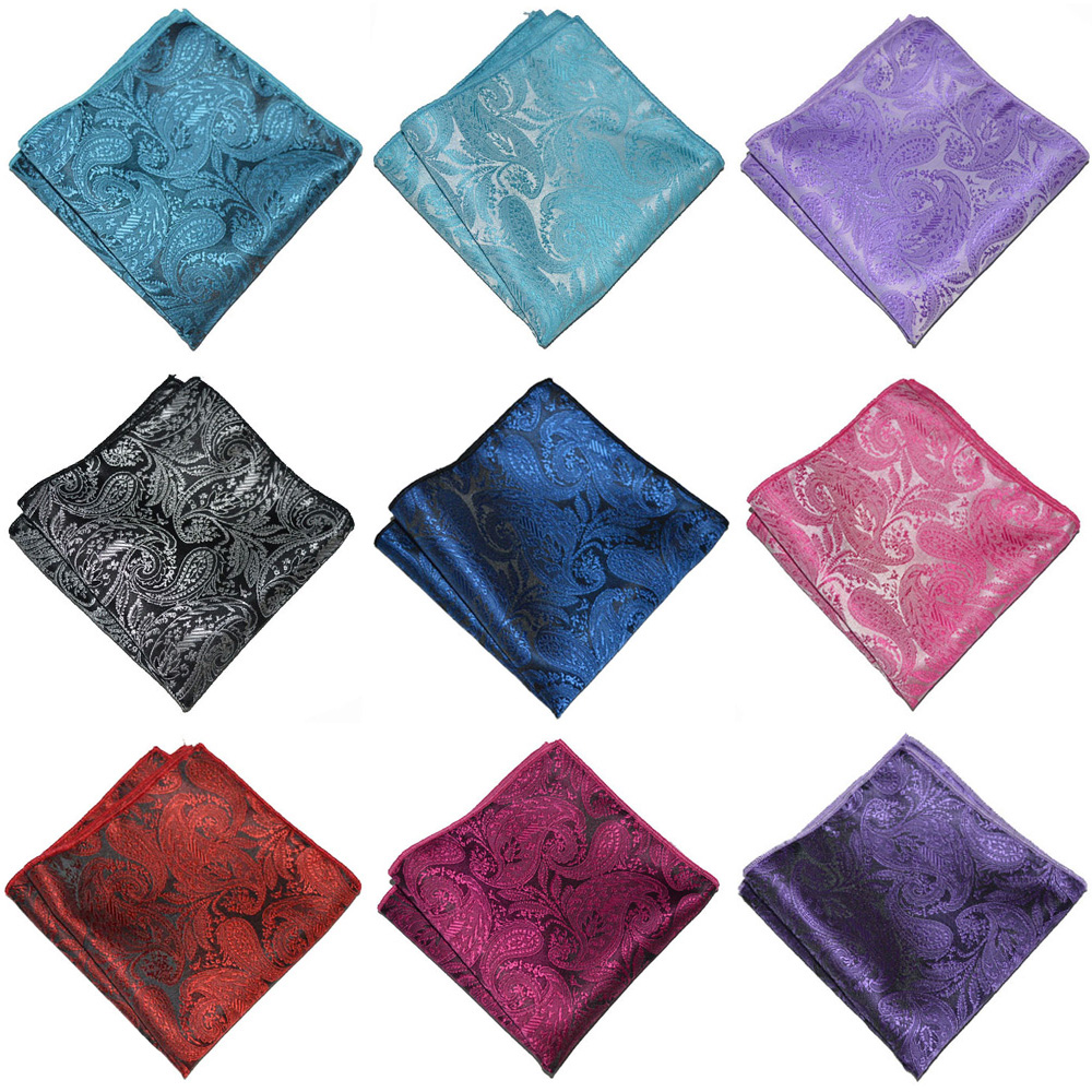 Mens Accessories Paisley Floral Handkerchief Formal Business Pocket Square