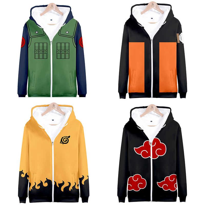 Naruto Shippuden Akatsuki Group Anime Hoodie Sweatshirt Pullover Sweater Jacket